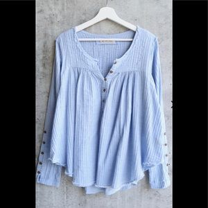 Free people Blue Sand Dune Henley NWT